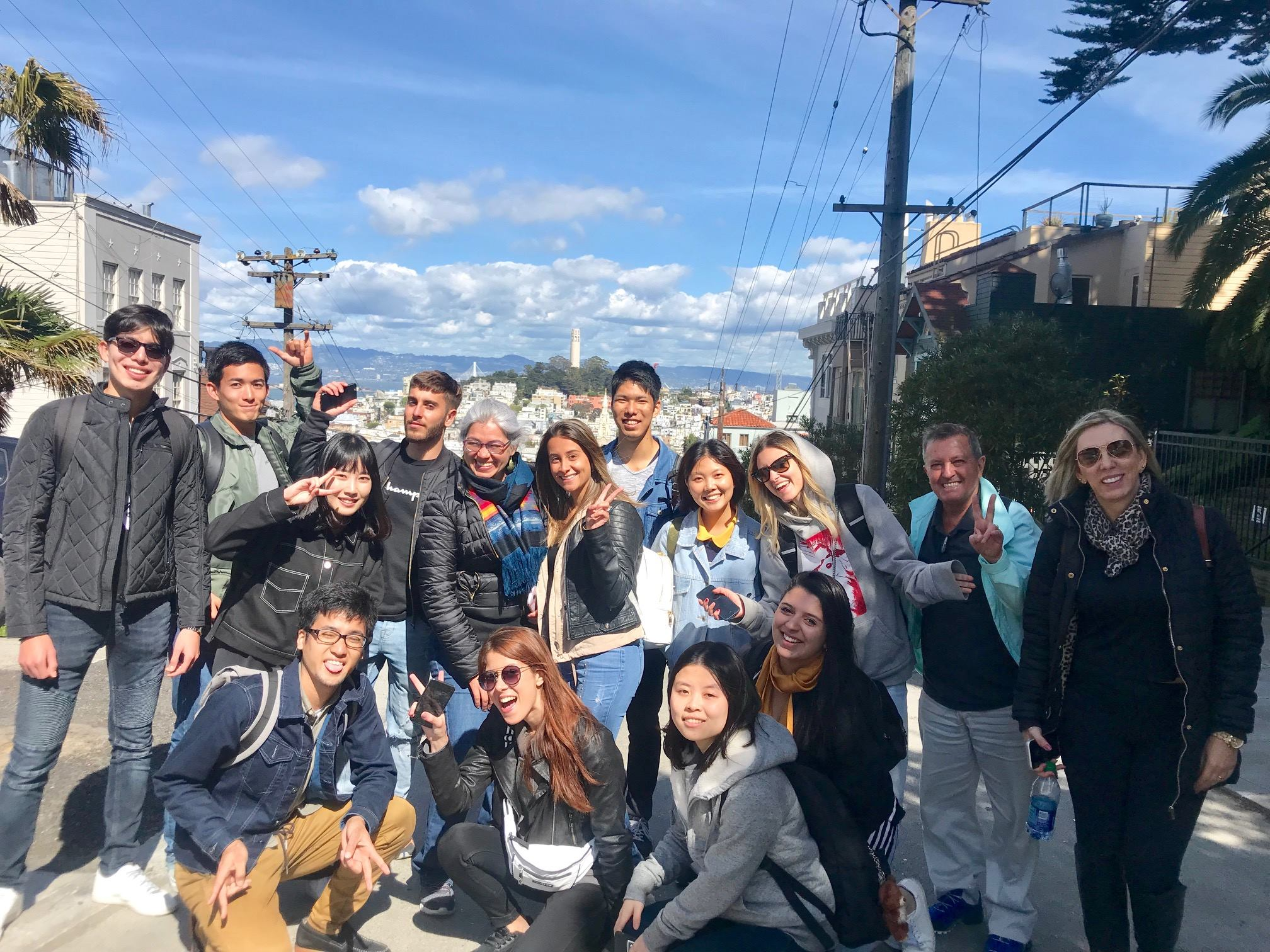 Stafford House English Students in San Francisco!