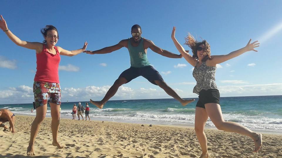 At the beach in Fuerteventura